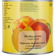 Персики половинки в легком сиропе 2.65 кг.