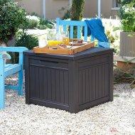 Столик-сундук «Keter» Cube Wood 208L, графит.