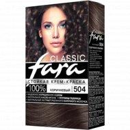 Крем-краска стойкая для волос «Fara Classic» тон 504, коричневый.