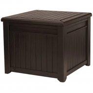 Столик-сундук «Keter» Cube Wood 208L, коричневый.