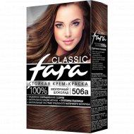 Крем-краска стойкая для волос «Fara Classic» 506А, молочный шоколад.