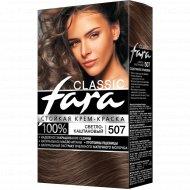 Крем-краска стойкая для волос «Fara Classic» тон 507, светлый каштан.