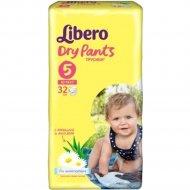 Подгузники «Libero» dry pants 5, 10-14 кг, 32 шт.