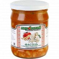Фасоль с грибами в томатном соусе, 450 г.