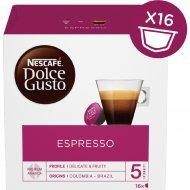 Кофе молотый «Nescafe Dolce Gusto Espresso» 16 капсул, 88 г.