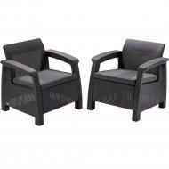 Комплект мебели «Allibert» Corfu II Duo, графит.