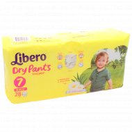 Подгузники-трусики «Libero» dry pants 7, 16-26 кг, 28 шт.
