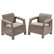 Комплект мебели «Allibert» Corfu II Duo, капучино.