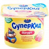 Йогурт «СуперКид» клубнично-малиновый пломбир, 2%, 120 г.