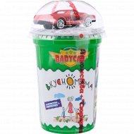 Кукурузные шарики «Babycar» в молочной глазури с игрушкой, 30 г