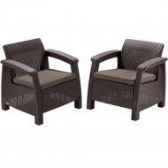 Комплект мебели «Allibert» Corfu II Duo, коричневый.