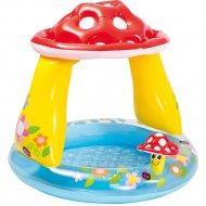Бассейн надувной детский «Intex» Грибок,с навесом, 102x89 см