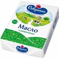 Масло сладкосливочное «Савушкин» несоленое 72,5 %, 180 г.