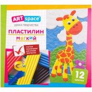 Пластилин «ArtSpace» со стеком, 12 цветов.