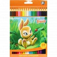 Цветные карандаши «Bonsticks» Пушистые зверята, 18 цветов.