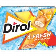 Жевательная резинка «Dirol X-Fresh» ледяной мандарин, 16 г.
