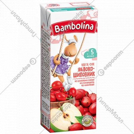 Сок «Bambolina» яблоко-шиповник, 200 мл.
