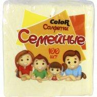 Салфетки бумажные «Семейные» Color, 100 шт.
