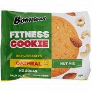 Печенье неглазированное овсяное «Bombbar» ореховый микс, 40 г