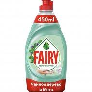 Средство для мытья посуды «Fairy» чайное дерево и мята, 450 мл.
