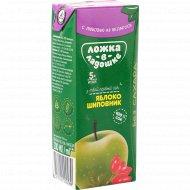 Сок яблочно-шиповниковый «Ложка в ладошке» с 5 месяцев, 200 мл