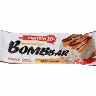 Батончик неглазированный «Bombbar» солёная карамель, 60 г