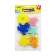 Спонжи-формы поролоновые, 6 предметов.