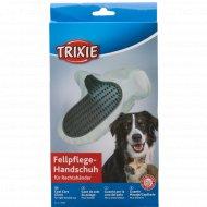 Массажная перчатка «Trixie» для ухода за шерстью, 14х25 см.
