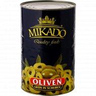 Оливки зеленые «Mikado» резаные, 4100 г.