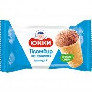 Мороженое «Юкки» пломбир на сливках шоколадный, 75 г.