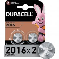 Комплект батареек «Duracell» CR2016, 2 шт