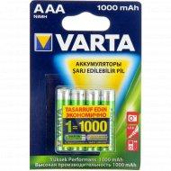 Аккумулятор «Varta» HR3, 1000mAh Ni-Mh AAA -4шт