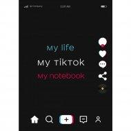 Блокнот «My life my TikTok my notebook».