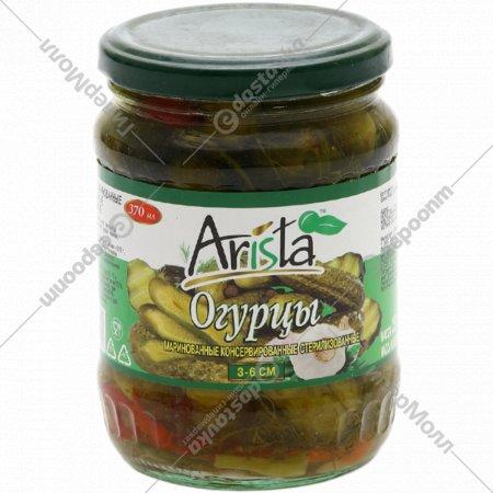 Огурцы маринованные «Arista» 3-6 см, 370 мл.