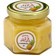 Крем-мед «Золотой улей» с ананасом, 150 г.