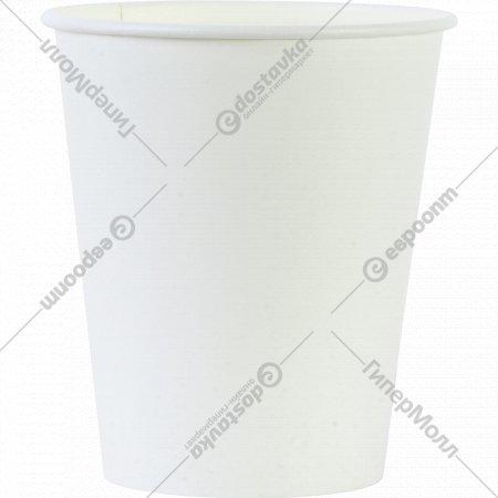 Стакан бумажный белый для горячих напитков, 250 мл, 10 шт.