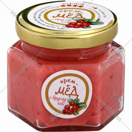 Крем-мед «Золотой улей» с брусникой, 150 г.