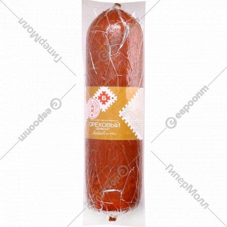 Колбаса варёно-копчёная «Сервелат Ореховый» 1 кг., фасовка 0.7-0.9 кг