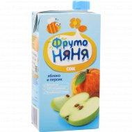 Сок «Фруто Няня» яблочно-персиковый 500 мл.