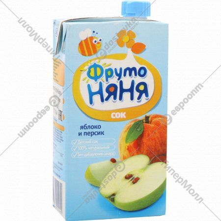 Сок «Фруто Няня» яблочно-персиковый, 500 мл.