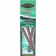 Темный шоколад «Maitre Truffout» с мятной начинкой в палочках, 75 г.