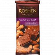 Шоколад молочный «Roshen» с целым миндалём, 90 г.