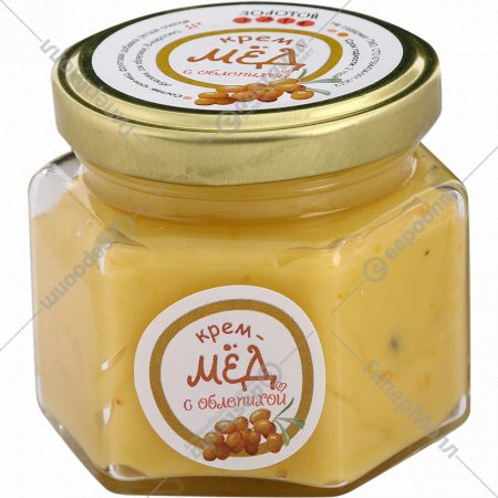 Крем-мед «Золотой улей» с облепихой, 150 г.