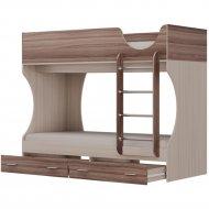 Кровать двухъярусная «Олмеко» Д2, ясень шимо, 190х80 см