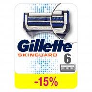 Сменные кассеты для бритья «Gillette» skinguard sensitive, 6 шт