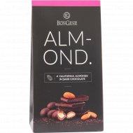 Драже «BonGenie» калифорнийский миндаль в темном шоколаде, 100 г.