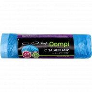 Мешки для мусора «Dompi» с завязками, 60 л, 20 шт