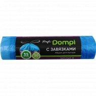 Мешки для мусора «Dompi» с завязками, 35 л, 20 шт