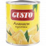 Ананасы «Gusto» кусочки, 820 г