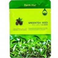 Тканевая маска для лица «FarmStay» с экстрактом семян зеленого чая, 23 мл.